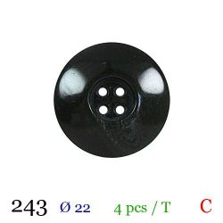 Tube 4 boutons vert foncé Ø 22mm