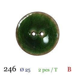 Tube 2 boutons vert Ø 25mm