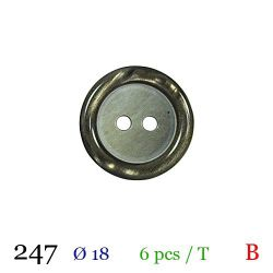Tube 6 boutons vert nacré Ø 18mm
