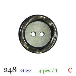 Tube 4 boutons vert nacré Ø 22mm
