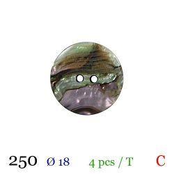 Tube 4 boutons nacré Ø 18mm