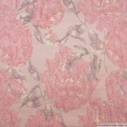 Brocart abstrait aquarelle rose pâle