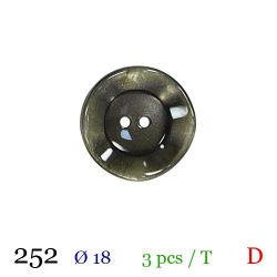 Tube 3 boutons vert nacré Ø 18mm