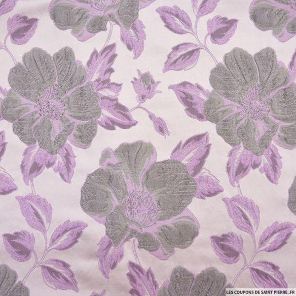 Brocart fleurs sauvage violet