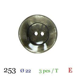 Tube 3 boutons vert nacré Ø 22mm