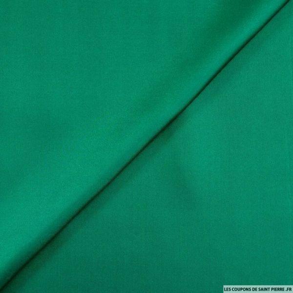 Twill de soie léger vert émeraude