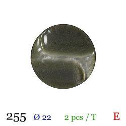 Tube 2 boutons vert nacré Ø 22mm