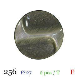 Tube 2 boutons vert nacré Ø 27mm