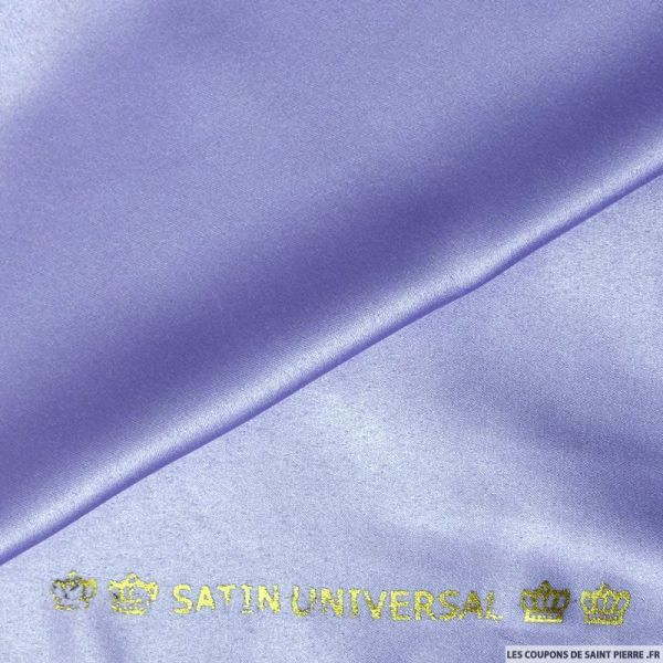 Satin mat touché soie bleuet