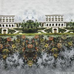 Polyester imprimé maison Versailles base
