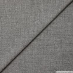 Sergé de laine mélangée gris