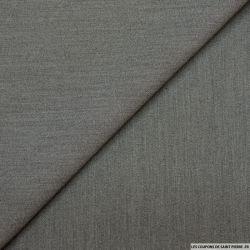 Crêpe polyester lourd gris chiné