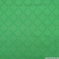 Jean's jacquard carré vert gazon