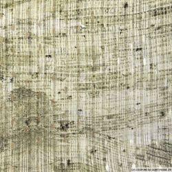 Mousseline dévorée imprimé reptile losanges dorés