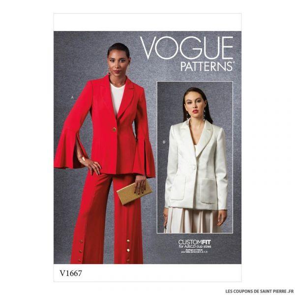 Patron Vogue V1667 : Veste chic