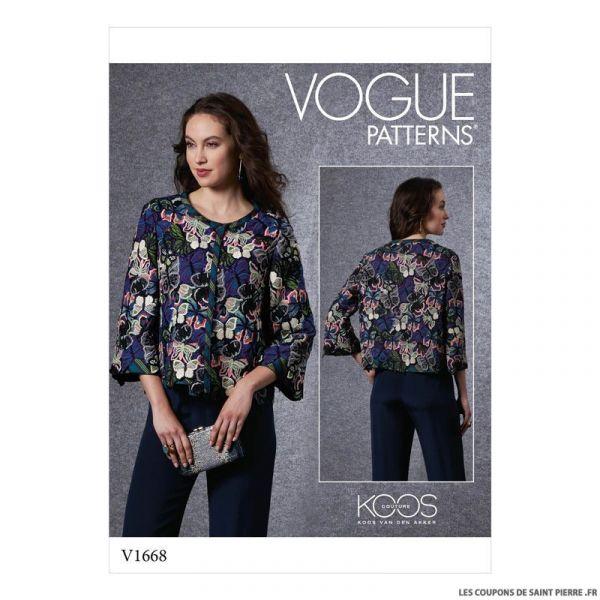 Patron Vogue V1668 : Veste matelassée