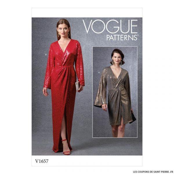 Patron Vogue V1657 : Robe de soirée