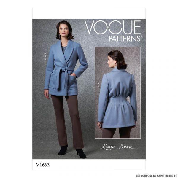 Patron Vogue V1663 : Veste, haut et pantalon en maille