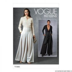 Patron Vogue V1661 : Pantalon ample
