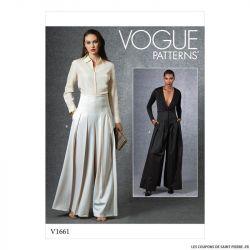 Patron Vogue V1661 : Pantalon ample