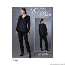 Patron Vogue V1666 : Veste et pantalon ample