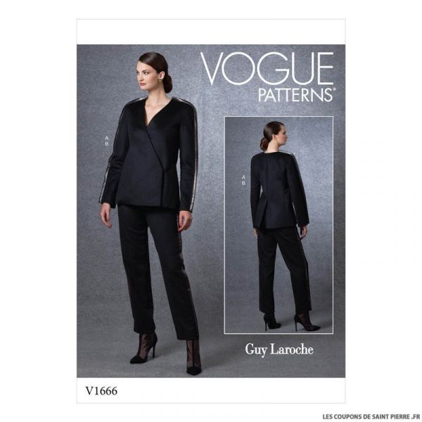 Patron Vogue V1666 : Veste et pantalon ample