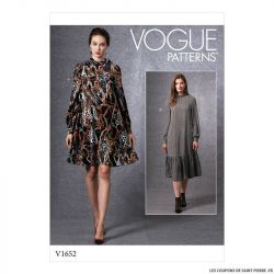 Patron Vogue V1652 : Robe ample