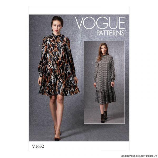 Patron Vogue V1652 : Robe ample