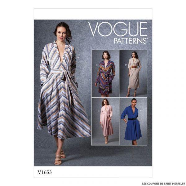Patron Vogue V1653 : Robe évasée