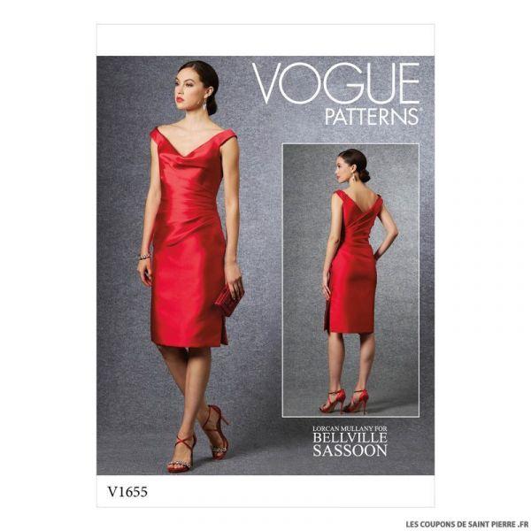 Patron Vogue V1655 : Robe de soirée chic