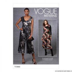 Patron Vogue V1664 : Combinaison ample