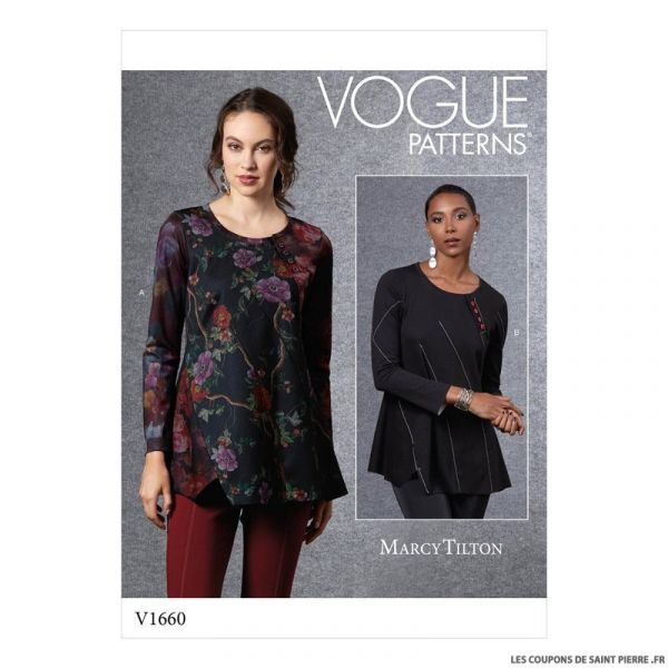 Patron Vogue V1660 : Haut asymétrique