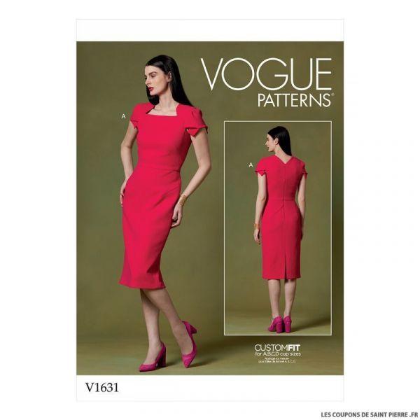 Patron Vogue V1631 : Robe fourreau