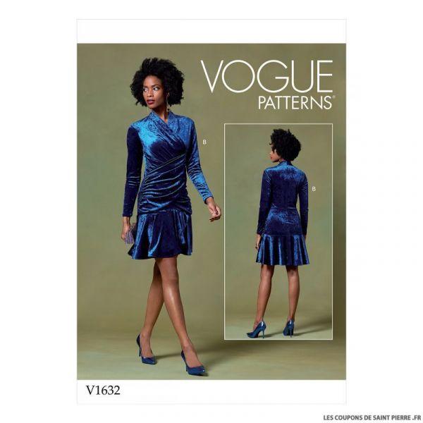 Patron Vogue V1632 : Haut, Robe et pantalon en maille