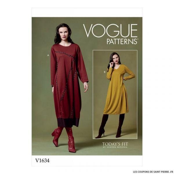 Patron Vogue V1634 : Robe cloche