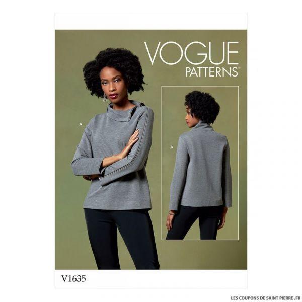 Patron Vogue V1635 : Haut col montant