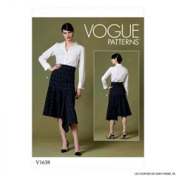 Patron Vogue V1638 : Jupe asymétrique