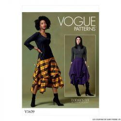 Patron Vogue V1639 : Jupe boule