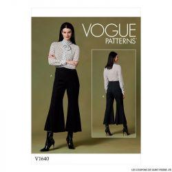 Patron Vogue V1640 : Pantalon évasé