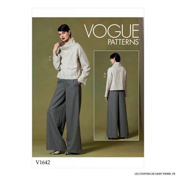 Patron Vogue V1642 : Haut et pantalon ample
