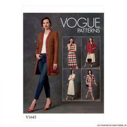 Patron Vogue V1643 : Veste, robe et jupe classique
