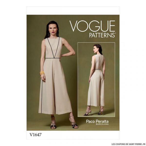 Patron Vogue V1647 : Combinaison évasée