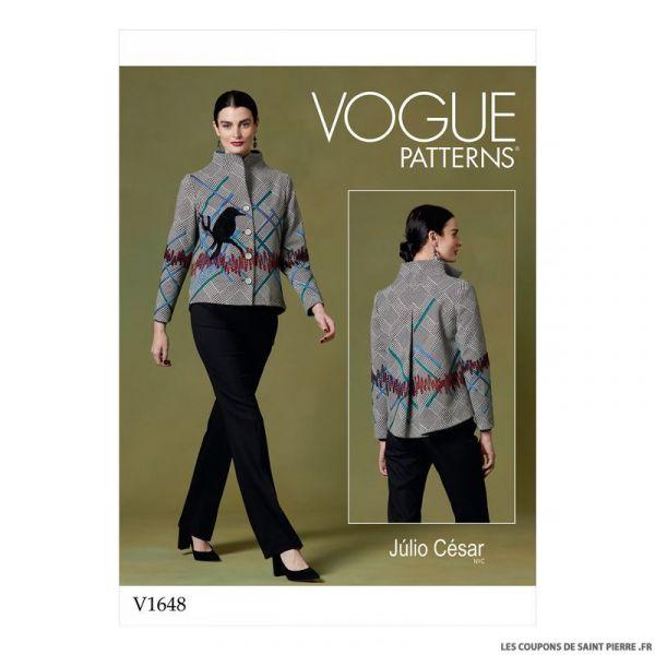 Patron Vogue V1648 : Veste fantaisie