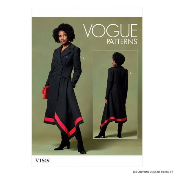 Patron Vogue V1649 : Manteau long