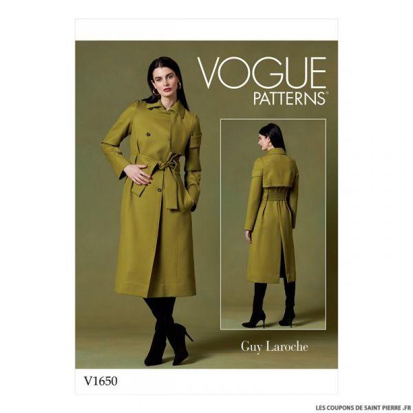 Patron Vogue V1650 : Manteau trench