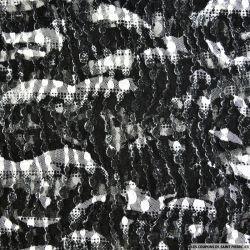 Dentelle Rachel abstrait noir et blanc
