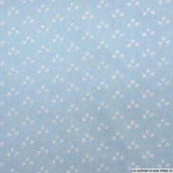 Coton imprimé trio blanc fond ciel