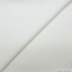 Tweed polyester blanc cassé fils irisés