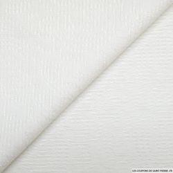 Jacquard polyviscose ajouré spirale blanc