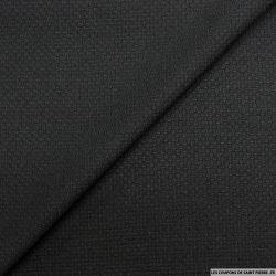 Jacquard polyester fantaisie noir